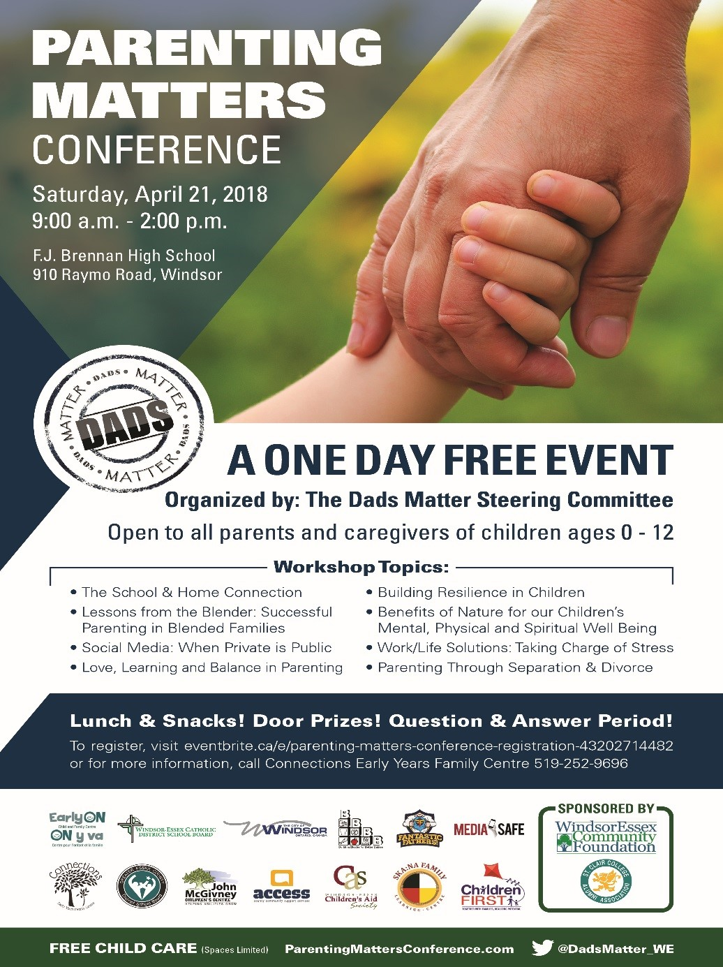 Poster for the Parenting Matters Conference in Windsor, Ontario.