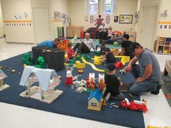 Play time for children and their fathers and grandfathers at Connections Early Years Family Centre!